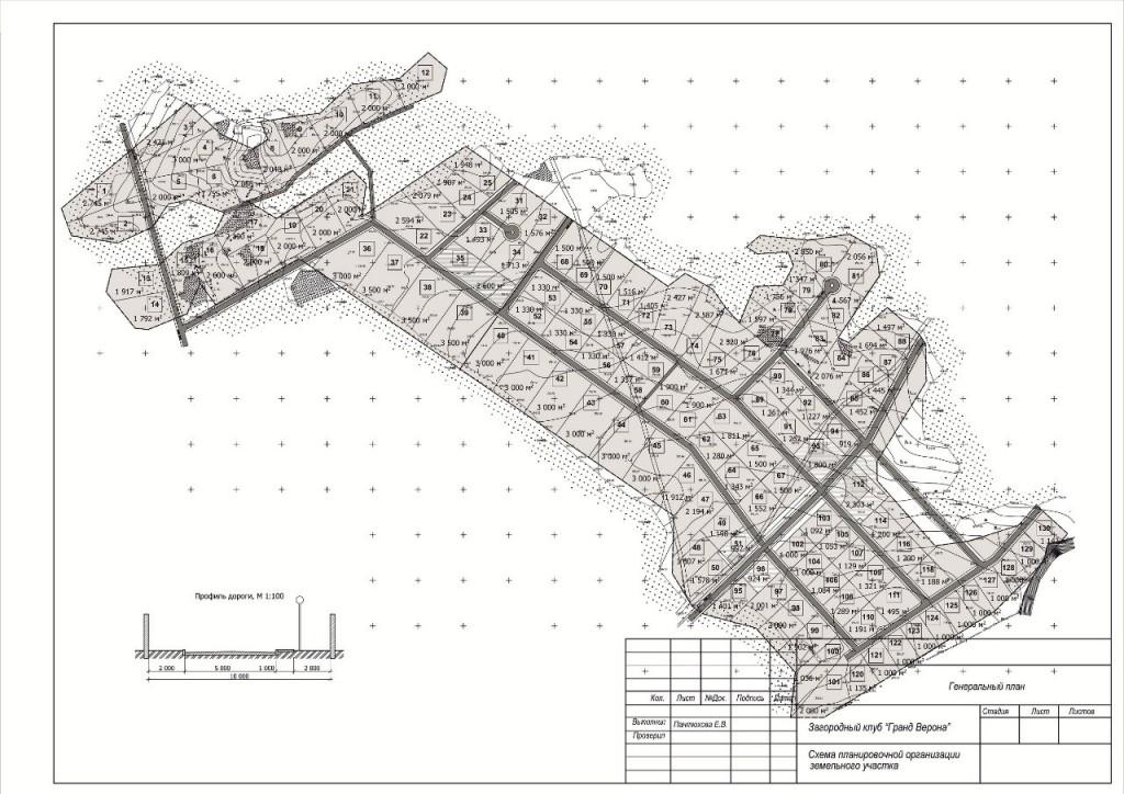 Генеральный план коттеджного посёлка Гранд Верона