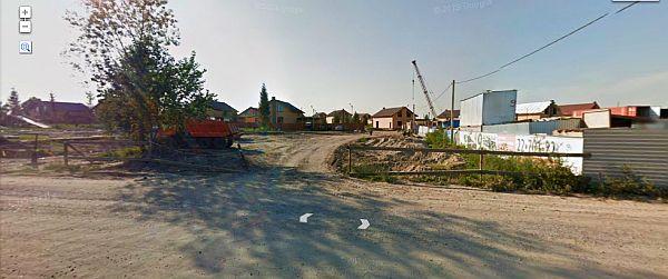 Строительство коттеджного поселка Белые Росы, снимок карт Google, 2012ю