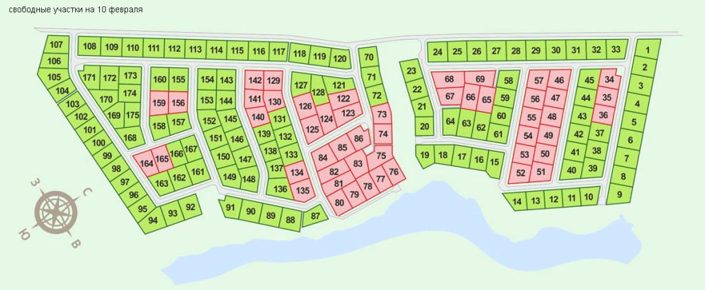 Фото: генеральный план коттеджного поселка Трансмаш, ДНП.