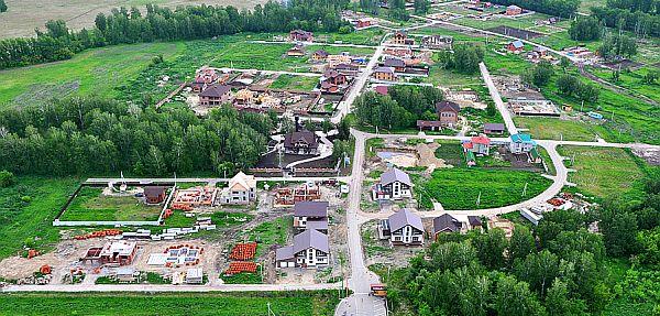 Фотография посёлка Золотая долина с высоты птичьего полёта