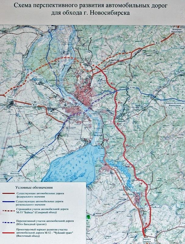 Схема Восточного обхода Новосибирска — Восточный объезд станет драйвером развития загородного строительства в восточном направлении