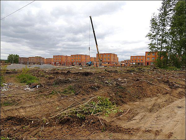 """Строительство поселка «Берёзки - Новолуговое», июнь 2014. Автор: """"Географ"""", skyscrapercity.com"""