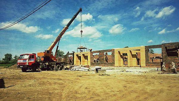 Новая Кубовая, таунхаусы 2014, строительство в июлей 2014