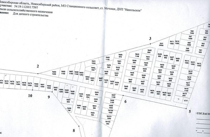 Генплан коттеджного посёлка Никольский парк: