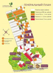 Генеральный план коттеджного посёлка «Жилой комплекс Соловьиная роща», 2016 г, кликните по картинке, чтобы увеличить