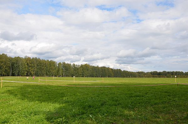 Вид на земельные участки первой очереди коттеджного посёлка «Клевер»